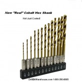13 Piece Quick Change Hex Shank Cobalt Drill Set