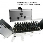 "33pc. 1/2"" - 1"" HSS MASTER DRILL SET"