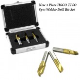 3pc. HSCO TICO Spot Welder Drill Bit Set