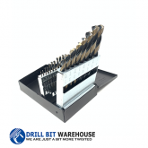 21pc HSS Black and Gold Jobber Drill Bit Set