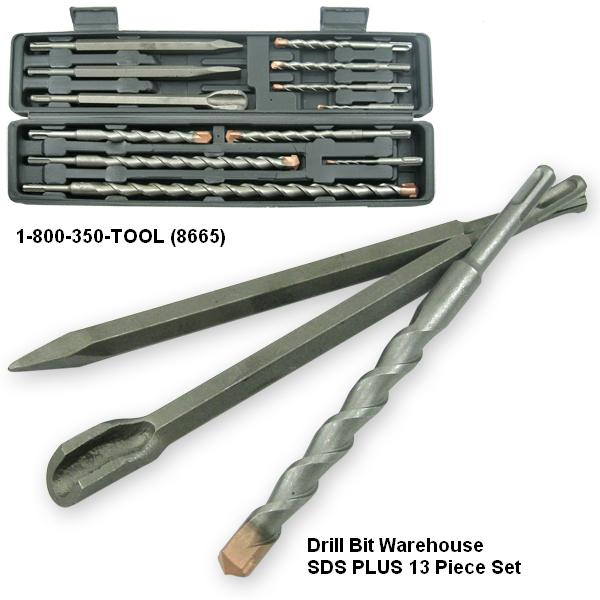 12pc. SDS-Plus Concrete Drill Bit and Chisel Set