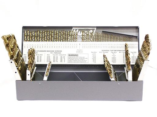 115pc. MASTER GOLD COBALT DRILL SET