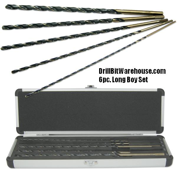 6pc. Long Boy Drill Bit Set
