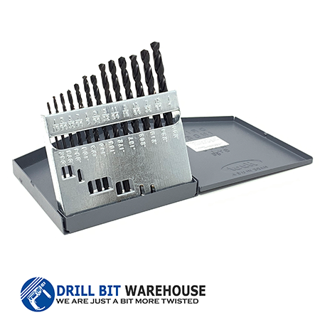 13pc Black Oxide USA MADE Drill Bit Set