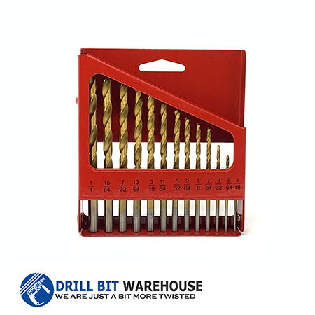 Red Barron 13pc Titanium Drill Bit Set