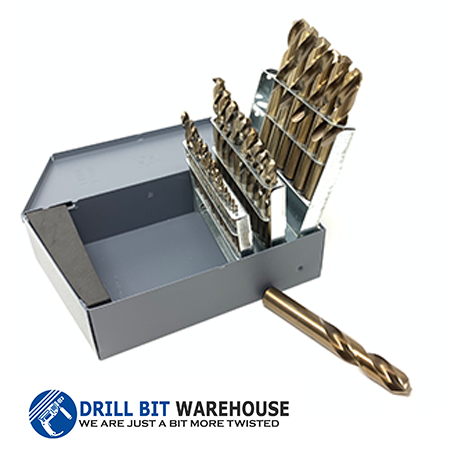 29pc Cobalt Gold Screw Machine Drill Bit Set