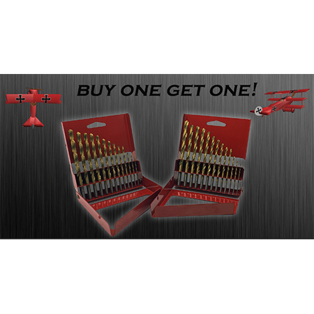 Red Barron 13pc Titanium Drill Bit Set BUY ONE GET ONE