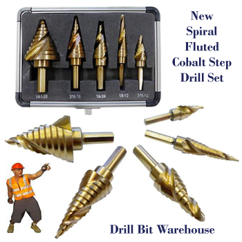 TERMINATOR M42 SAE SPIRAL FLUTED STEP DRILL SET